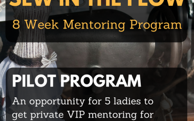 """Sew in the Flow"" 8 Week Sewing Business Mentoring Pilot Program: Looking for 5 Ladies"